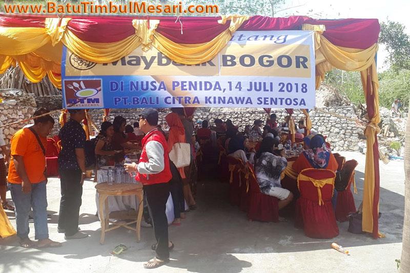 Lunch Maybank Group Bogor di RM. BTM Nusa Penida Bali