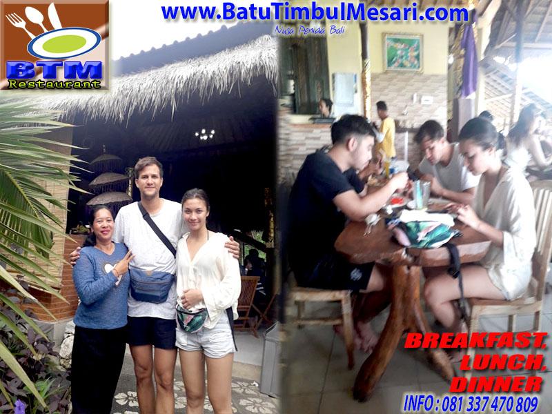 Artis Stuart Collin Berkunjung ke RM. BTM Nusa Penida Bali
